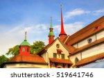 details of franciscan church in ... | Shutterstock . vector #519641746