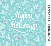 christmas holiday pattern.... | Shutterstock .eps vector #519643366
