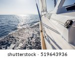 Sail Vessel Surfing On The Sea