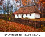 Old House In Autumn At The...
