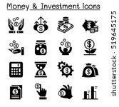 financial investment icons set | Shutterstock .eps vector #519645175