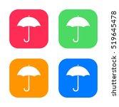 umbrella icon isolated on...