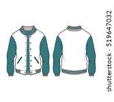 classic sport varsity jacket...   Shutterstock .eps vector #519647032