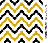 hand drawn seamless chevron... | Shutterstock .eps vector #519648076