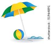 summer holidays objects | Shutterstock .eps vector #51964891