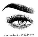 beautiful woman eye | Shutterstock .eps vector #519649276