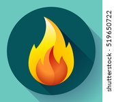 red fire flame icon vector logo ...