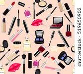 makeup  perfume  cosmetics... | Shutterstock .eps vector #519650902