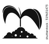 green seedling in soil icon.... | Shutterstock .eps vector #519651475