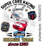 vector racing car.... | Shutterstock .eps vector #519652072
