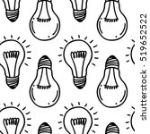 lamp light bulb hand drawn... | Shutterstock .eps vector #519652522