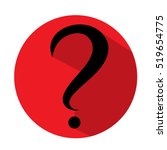 question mark in red circle.... | Shutterstock .eps vector #519654775