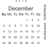 calendar icon vector flat... | Shutterstock .eps vector #519659626