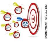 marketing dart concept.... | Shutterstock .eps vector #519662182