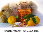 still life with tangerines ... | Shutterstock . vector #519666106