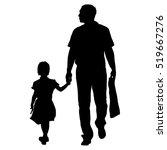black silhouettes family on... | Shutterstock .eps vector #519667276