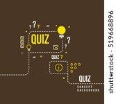 quizzes  school exam quiz... | Shutterstock .eps vector #519668896