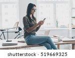 typing business message.... | Shutterstock . vector #519669325