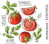 illustration tomatoes with...