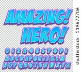 creative high detail comic font.... | Shutterstock .eps vector #519672706