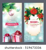christmas vertical banners with ... | Shutterstock .eps vector #519673336
