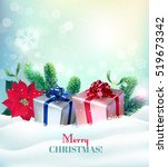 christmas background with gifts ... | Shutterstock .eps vector #519673342