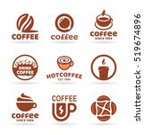 set of nine vector labels ... | Shutterstock .eps vector #519674896