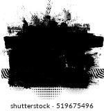 Grunge Paint Stripe . Vector...