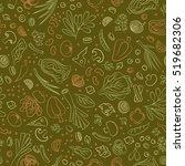 veggie seamless pattern with... | Shutterstock .eps vector #519682306