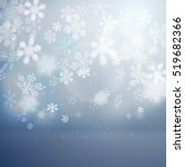 Christmas flat background with falling snowflakes vector illustration