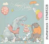 Birthday Card With Cute Bear ...