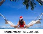 woman in hammock on tropical... | Shutterstock . vector #519686206