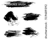 vector set of grunge brush... | Shutterstock .eps vector #519689392