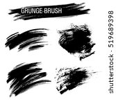vector set of grunge brush... | Shutterstock .eps vector #519689398