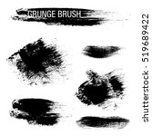 vector set of grunge brush... | Shutterstock .eps vector #519689422
