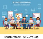 business meeting concept with... | Shutterstock . vector #519695335