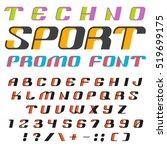 3d font vector design for sport ... | Shutterstock .eps vector #519699175