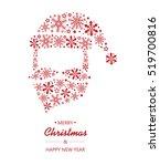 merry christmas festive card... | Shutterstock .eps vector #519700816