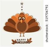happy thanksgiving greeting... | Shutterstock .eps vector #519706792