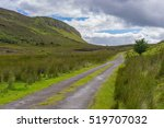 a small country road  leading... | Shutterstock . vector #519707032