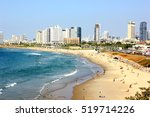 tel aviv beach coast with a... | Shutterstock . vector #519714226