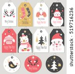set of merry christmas and new... | Shutterstock .eps vector #519716236