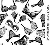 lingerie panty and bra seamless ... | Shutterstock .eps vector #519717358