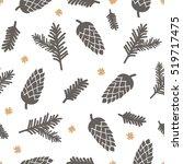 winter seamless pattern with... | Shutterstock .eps vector #519717475