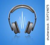 vector headphones icon.vector... | Shutterstock .eps vector #519719875