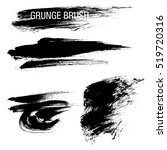 vector set of grunge brush... | Shutterstock .eps vector #519720316
