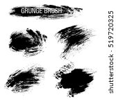 vector set of grunge brush... | Shutterstock .eps vector #519720325