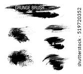 vector set of grunge brush... | Shutterstock .eps vector #519720352
