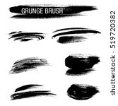 vector set of grunge brush... | Shutterstock .eps vector #519720382