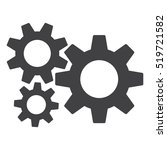 gear icon vector flat design... | Shutterstock .eps vector #519721582